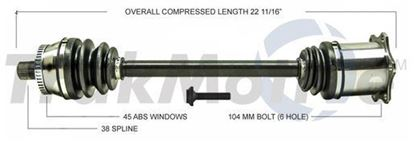 Picture of Audi A4 Left Front CV Shaft 05-08 8E0407271BA